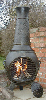 Buy The 53 Inch Basketweave Cast Iron Chiminea Online From