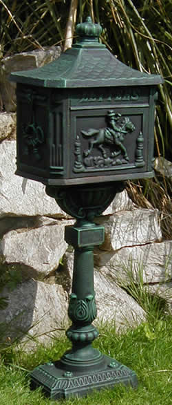 wrought iron mailbox post cast iron mail boxes and post boxes available for 1666